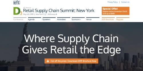 4th Annual D3 Retail Supply Chain Summit: New York