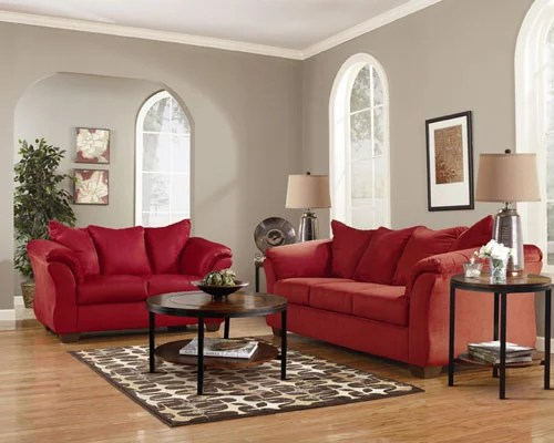 Signature Design By Ashley Darcy Salsa Sofa And Loveseat