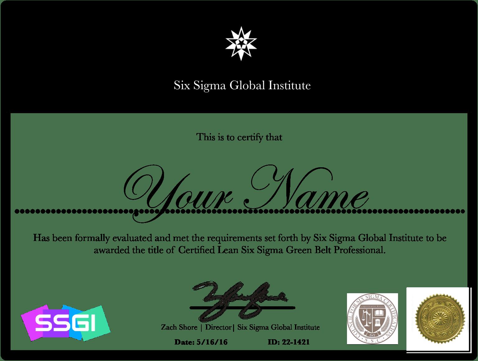 Lean six sigma green belt certification online ssgi green belt certification 1betcityfo Choice Image