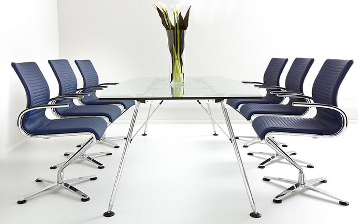 meeting room chairs used table and for restaurant use modern conference ambience dore chrome black leather designer premium neo retro office