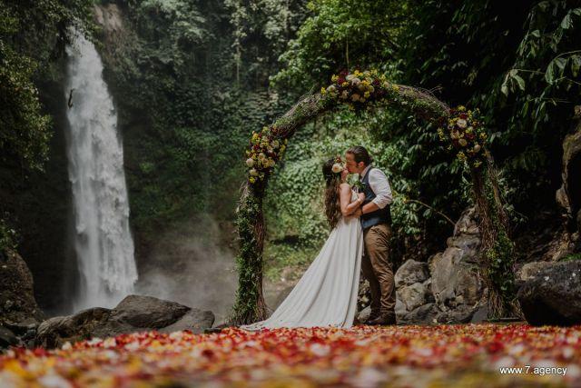 Gorgeous Wedding Set on a Waterfall!