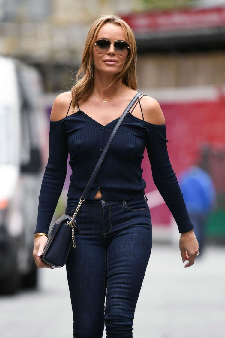 Amanda Holden Leaving The Global Radio Studios In London
