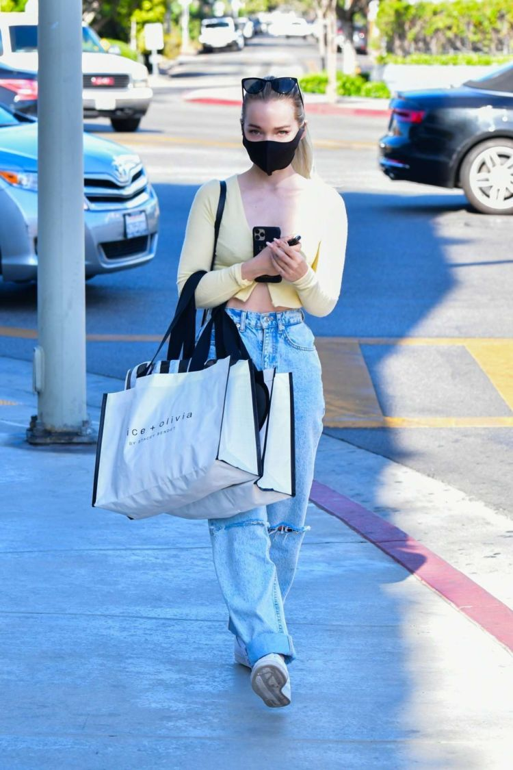 Dove Cameron Spotted Shopping At Alice And Olivia In West Hollywood