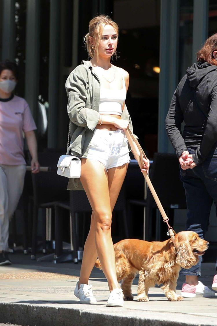 Kimberley Garner Walking Her Dog Out In London
