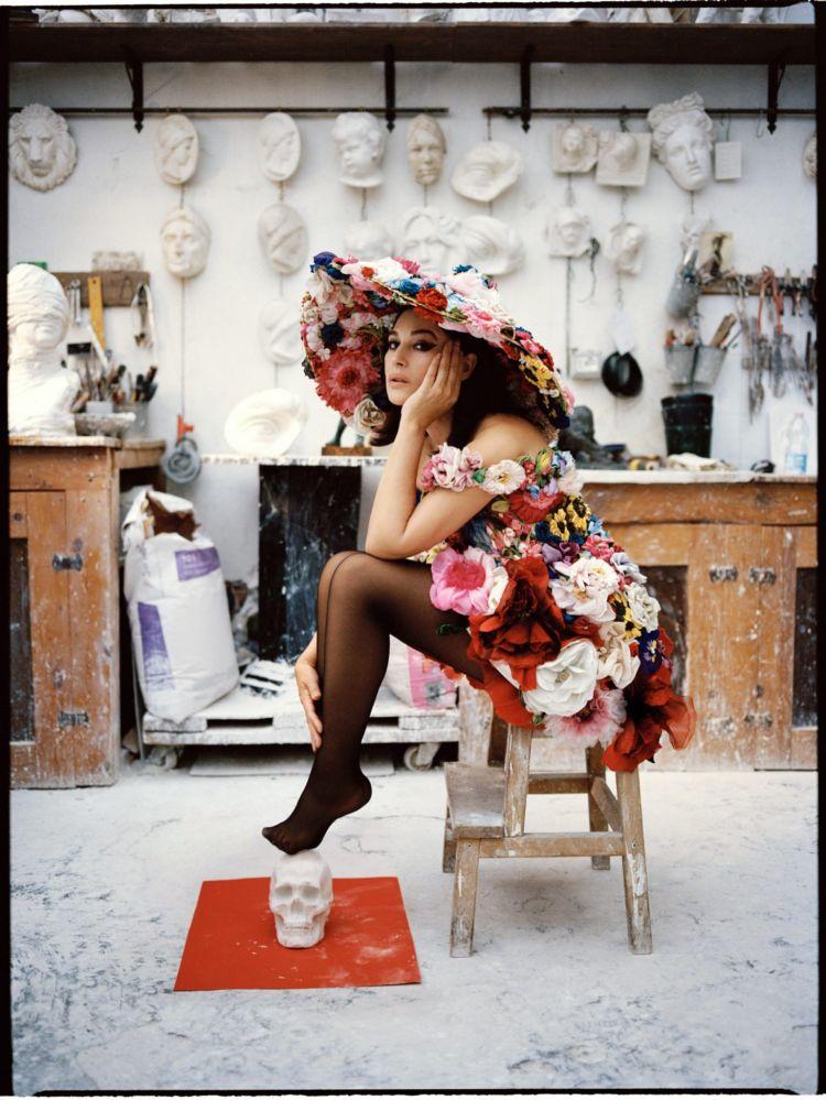 Monica Bellucci Shoots For Vogue Italia By Sebastian Faena