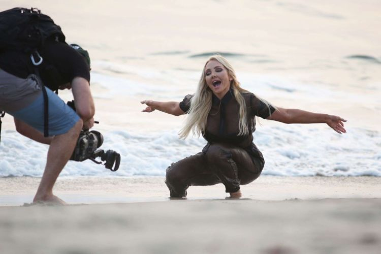 Nikki Lund On The Set Of Her New Music Video Shoot At The Beach