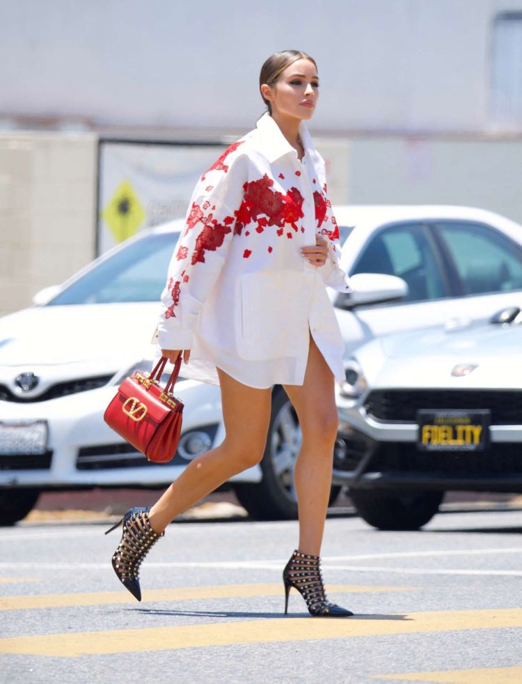 Gorgeous Olivia Culpo Spotted Heading Out For Brunch In Hollywood