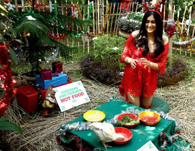 Adah Sharma Looks Pretty In Red At PETA India Event