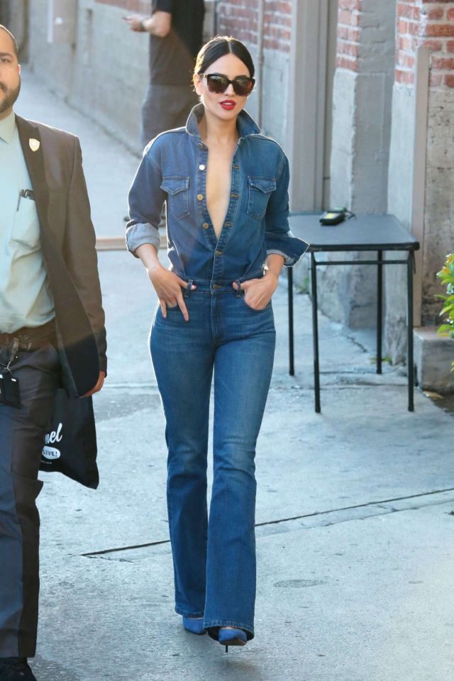 Eiza Gonzalez Spotted Arriving On 'Jimmy Kimmel Live' In Hollywood