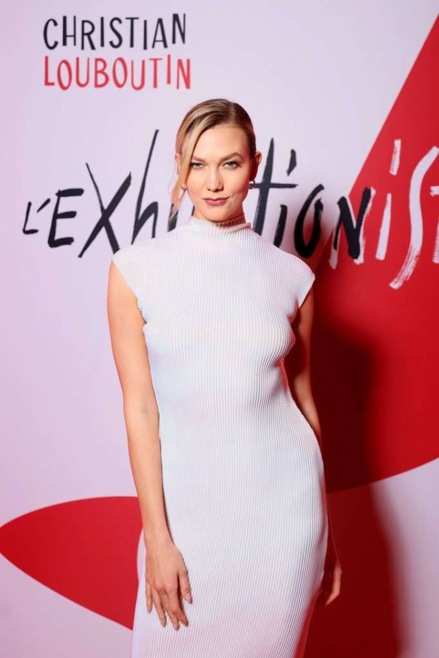 Gorgeous Karlie Kloss At L'Exibition[niste] By Christian Louboutin Opening In Paris