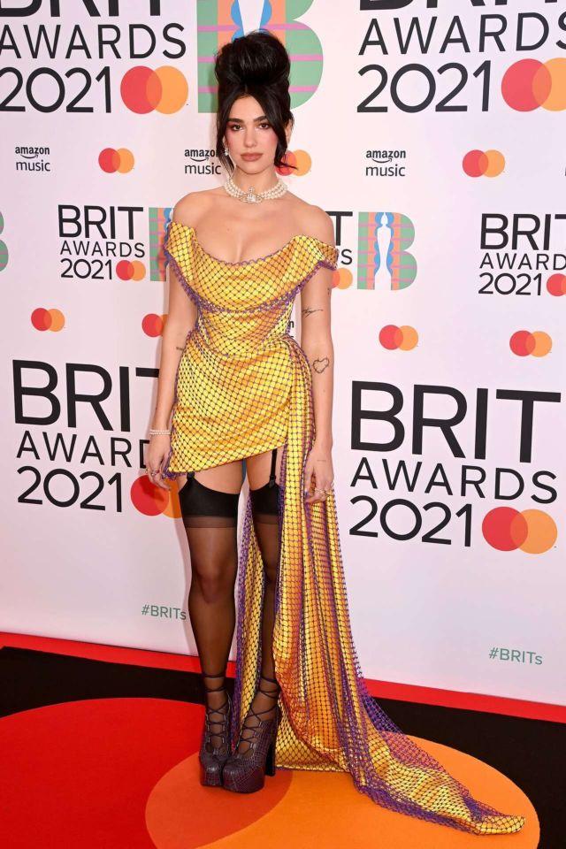 Dua Lipa Performs Live At The BRIT Awards 2021