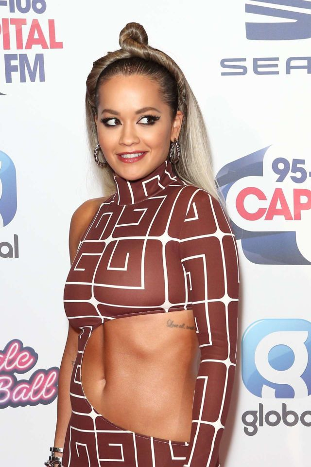 Stunning Rita Ora At Capital's Jingle Bell Ball In London