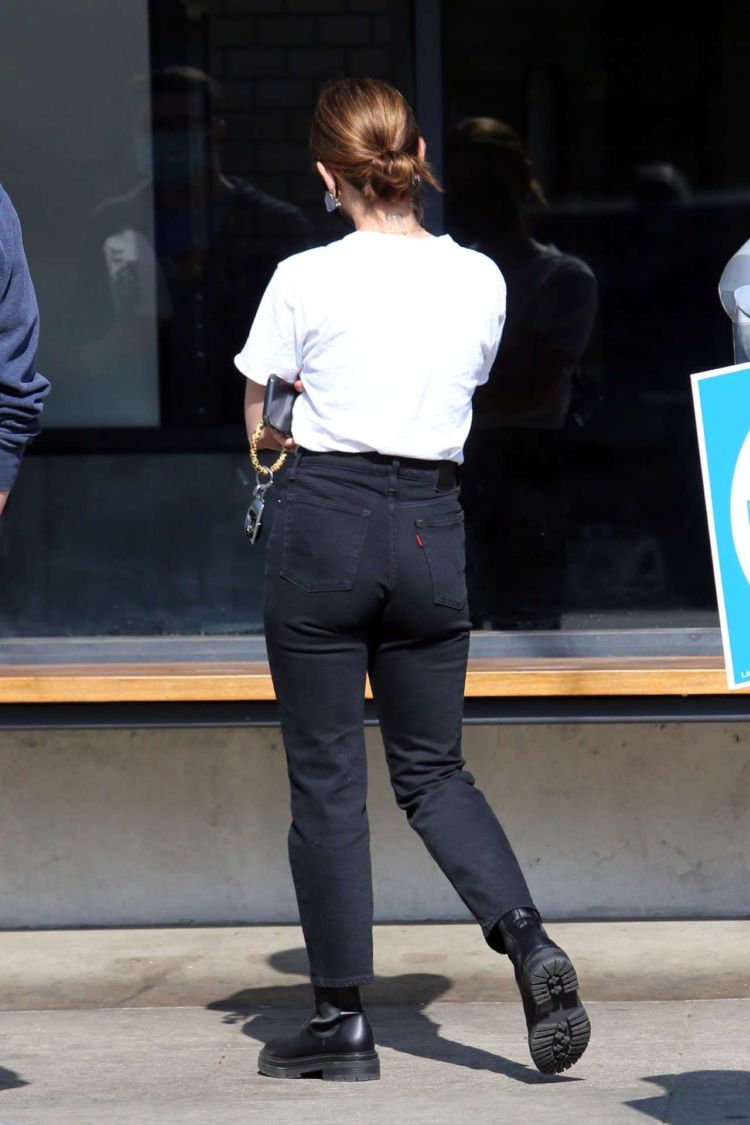 Lucy Hale Candids In Jeans On Coffee Run In Los Angeles