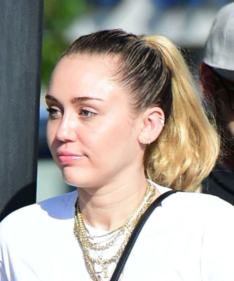 Miley Cyrus Out For Lunch Candids In LA