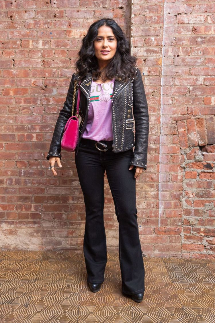Salma Hayek Graced The Gucci Wooster Store Opening