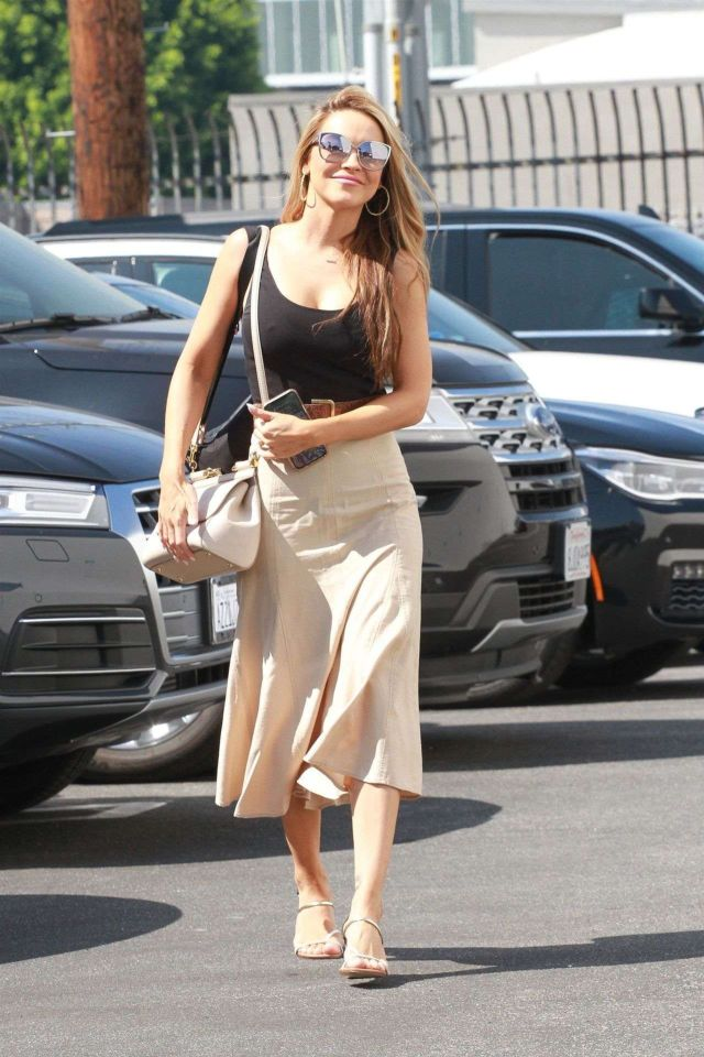 Gorgeous Chrishell Stause Smiling Outside DWTS Studios