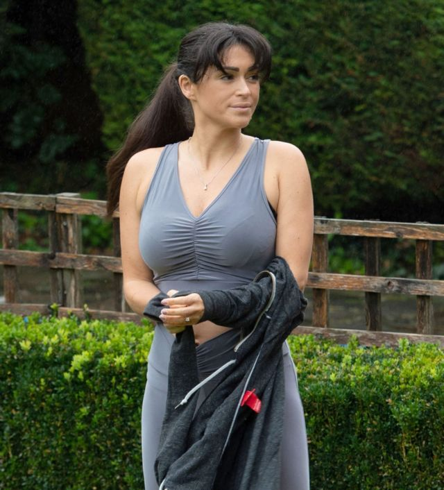 Gorgeous Casey Batchelor Practicing Yoga In North London