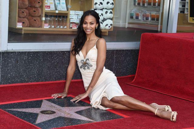 Zoe Saldana Gets A Star On The Hollywood Walk Of Fame