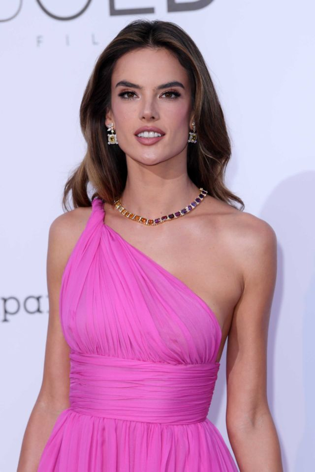 Beautiful Alessandra Ambrosio At The amfAR's 25th Cinema Against AIDS Gala