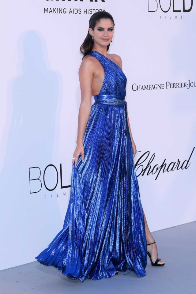 Sara Sampaio Shines In Blue At amfAR's 25th Cinema Against AIDS Gala