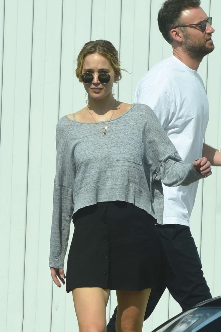 Jennifer Lawrence Spotted In A Black Skirt, Out In Los Angeles