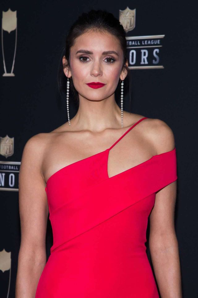 Gorgeous Nina Dobrev Attends 8th Annual NFL Honors 2019