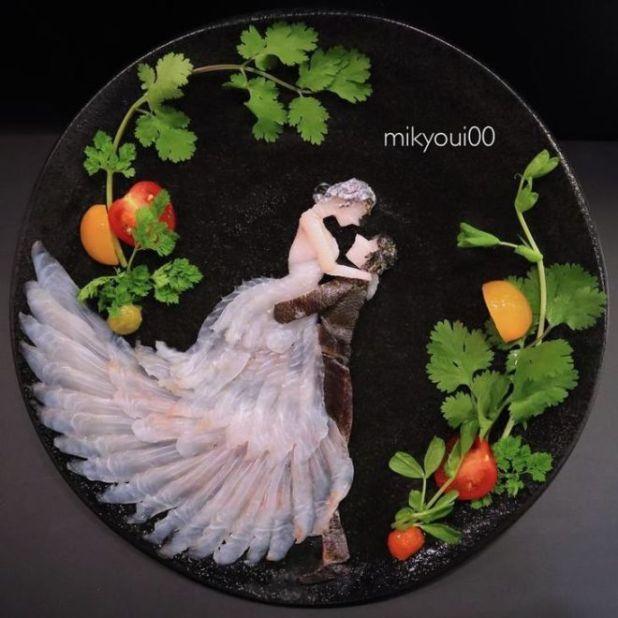Raw Fish Converted Into Creative Art