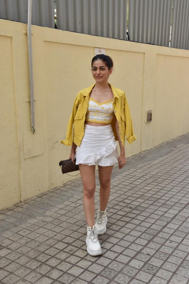 Alaya Furniturewala Stepped Out In A Funky Outfit