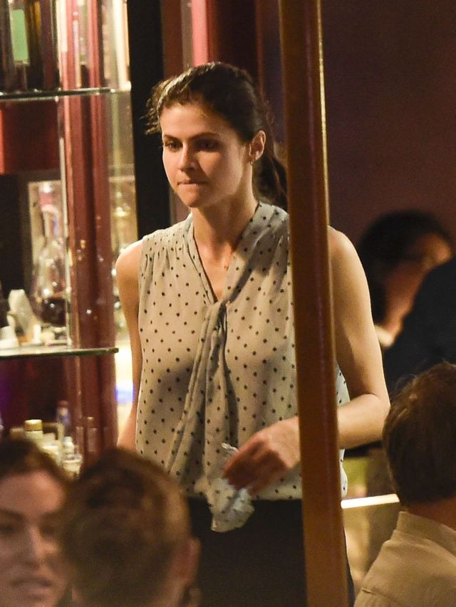 Alexandra Daddario Out For A Dinner Date With Her Ex At In Rome