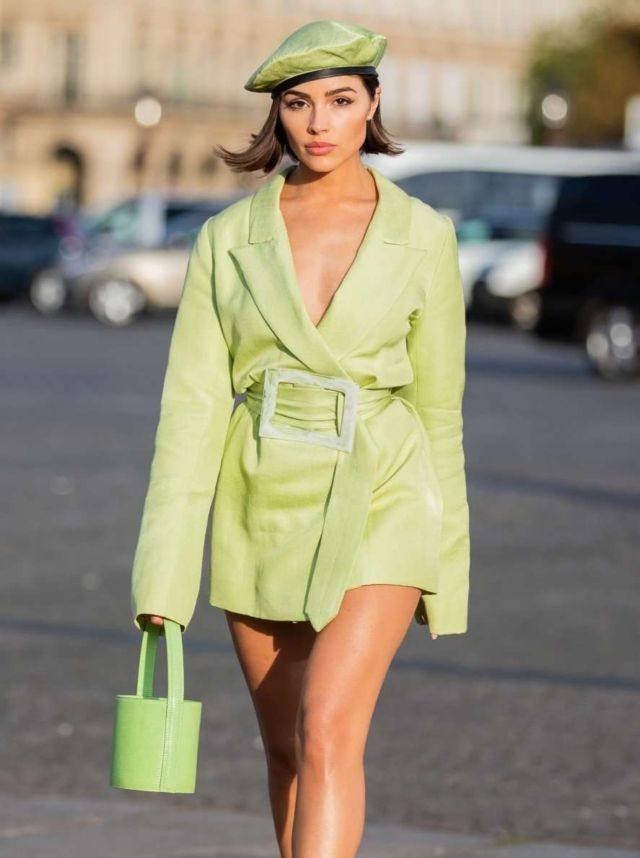 Beautiful Olivia Culpo Spotted Out In Paris