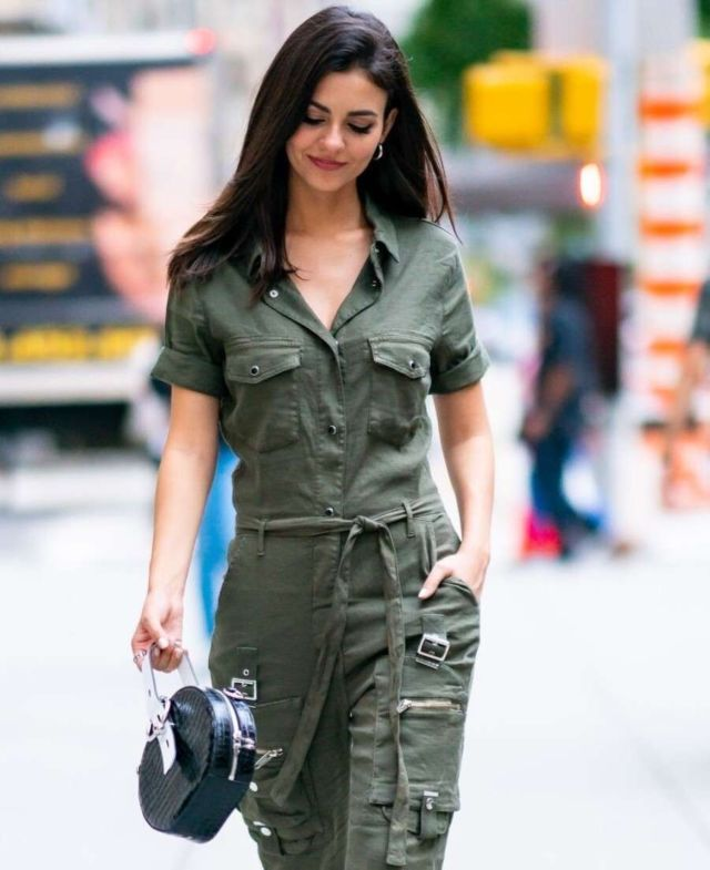 Victoria Justice Look Stylish In Jumpsuit Out In New York