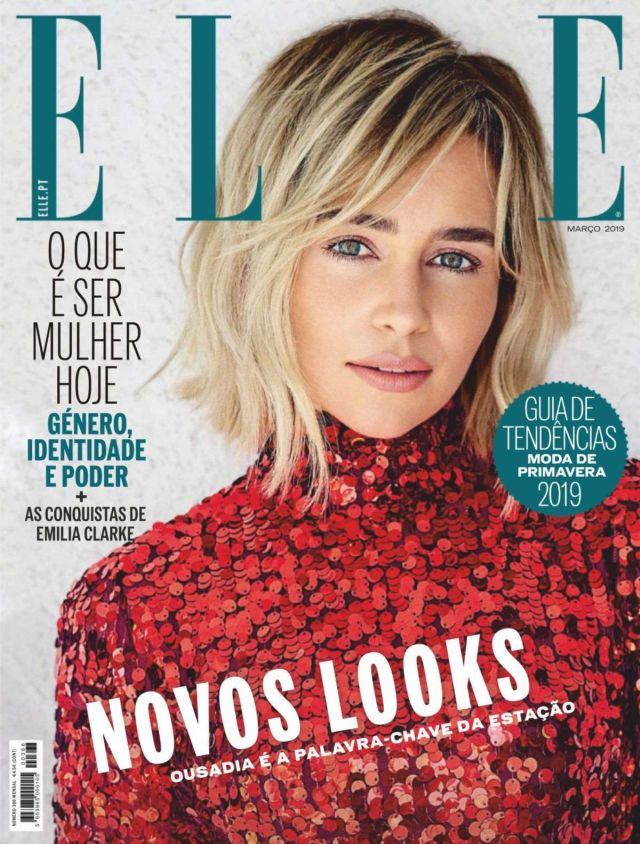 Emilia Clarke Shoots For Elle Portugal's March 2019 Issue
