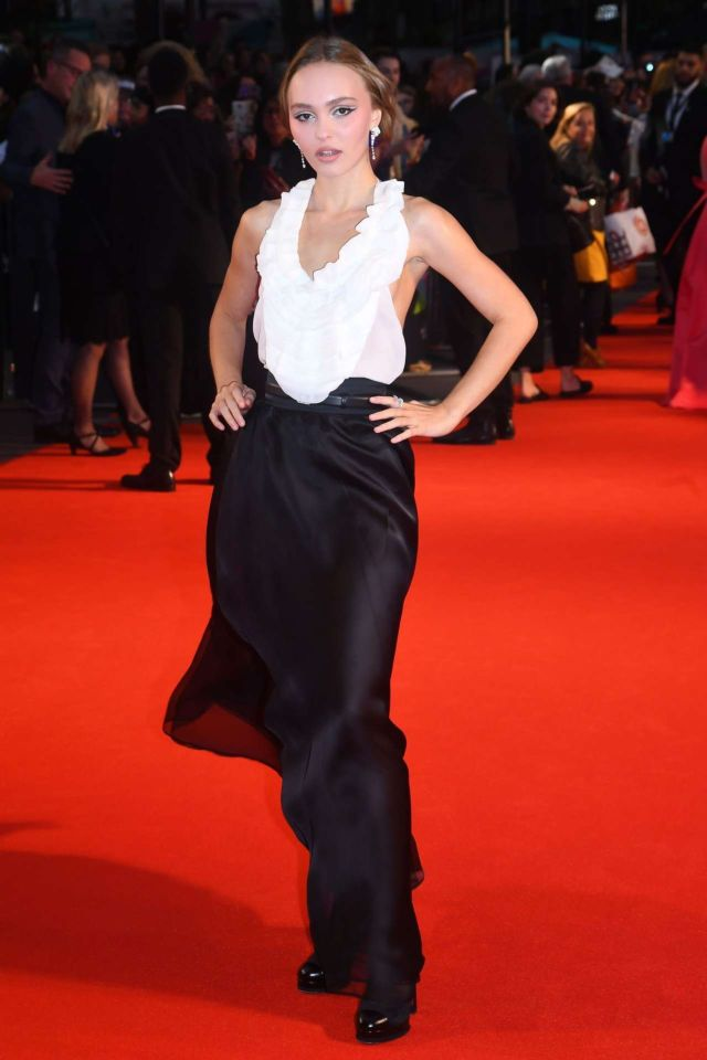 Lily-Rose Depp Attends The Premiere Of 'The King' At The BFI London Film Festival'