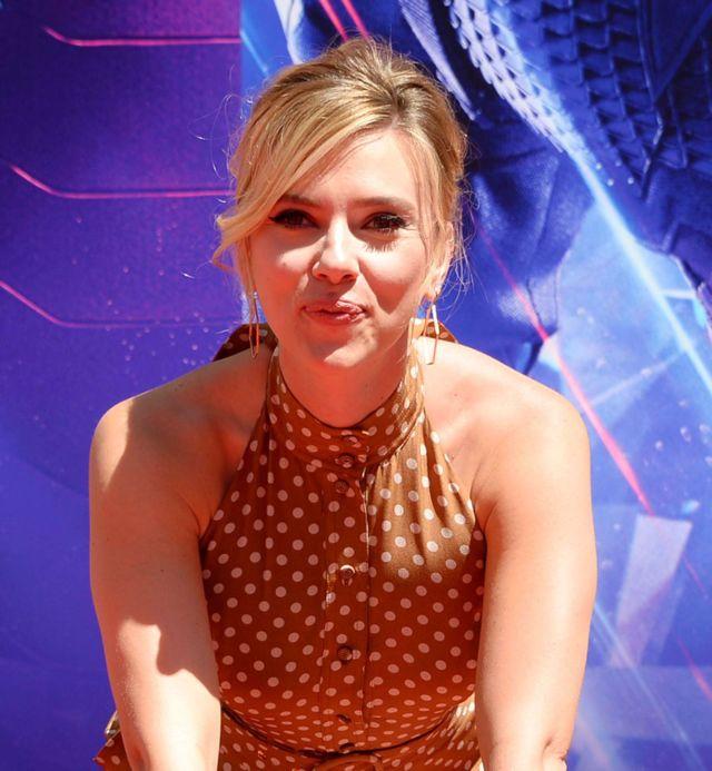 Scarlett Johansson At The 'Avengers: Endgame' Hand And Footprint Ceremony