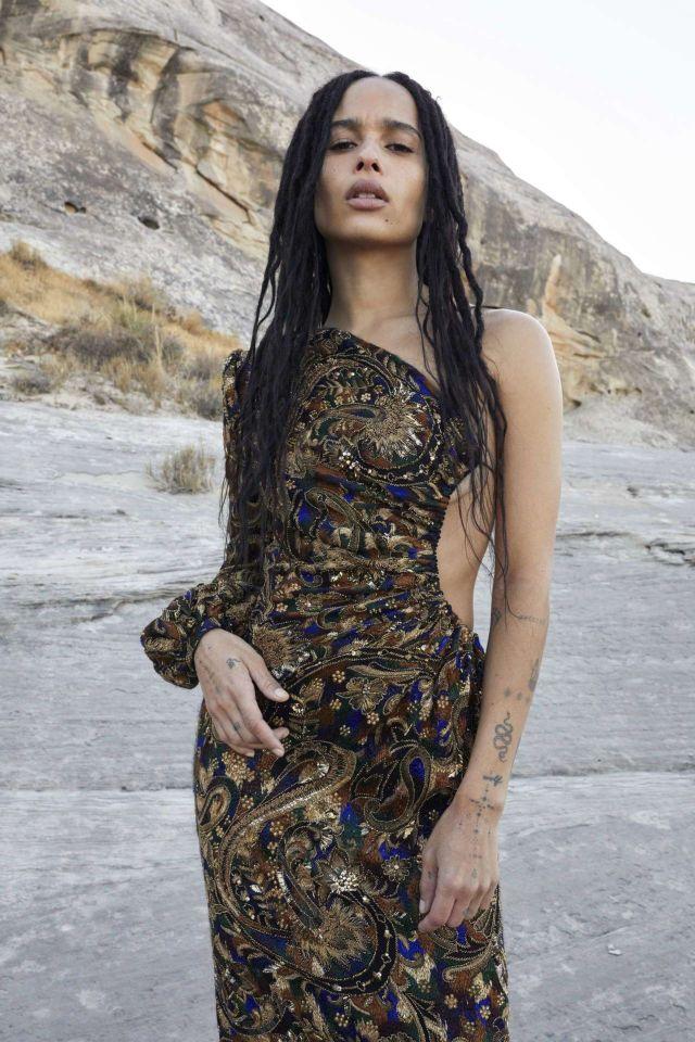 Zoe Kravitz Shoots For Yves Saint Laurent Summer 2020 Campaign
