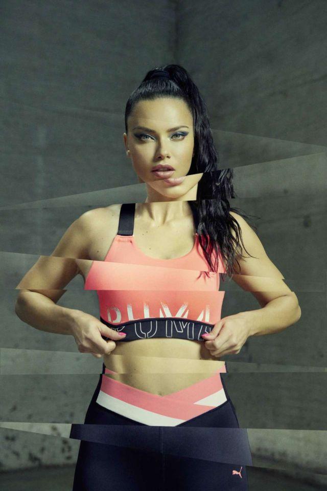 Adriana Lima Shoots For Puma Campaign 2019