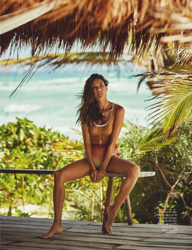 Alessandra Ambrosio's Fantastic Beachside Photoshoot For Elle Espana Magazine 2020