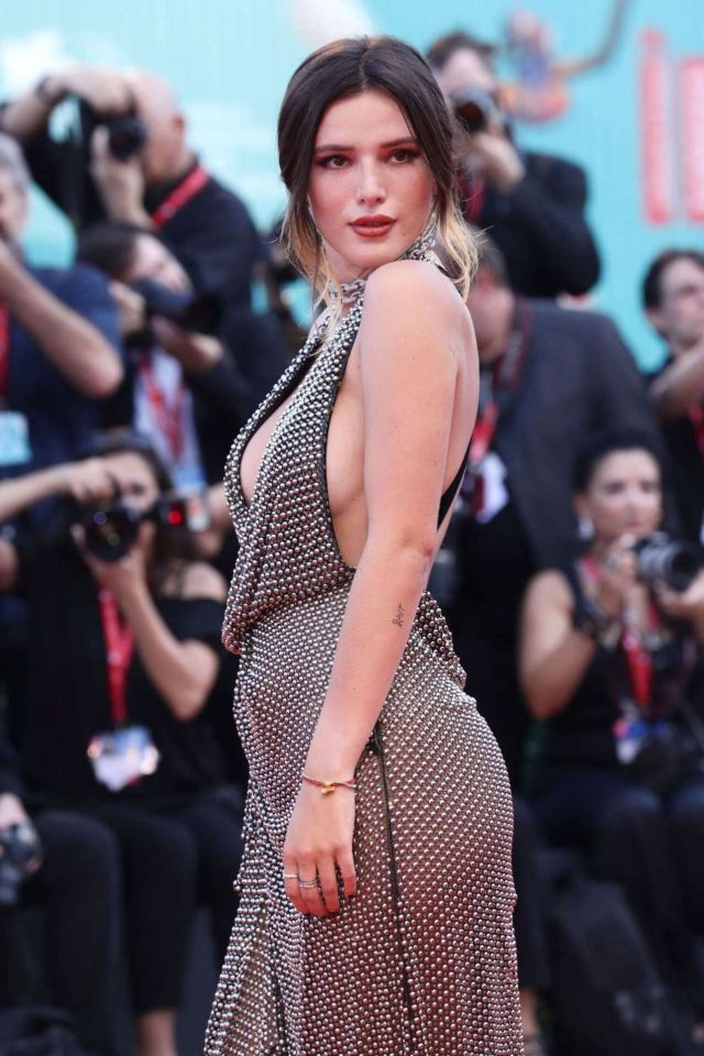 Gorgeous Bella Thorne Attends The Premiere Of 'Joker' At Venice Film Festival