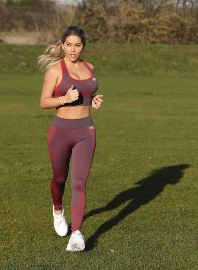 Bianca Gascoigne Working Out At The Prestige Bootcamp