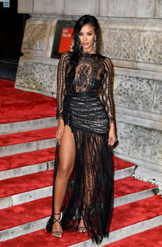 Beautiful Maya Jama Attends EE British Academy Film Awards 2019