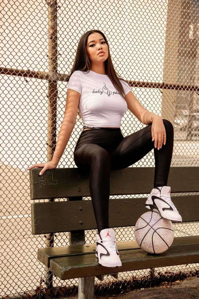 Ming Lee Simmons Sporty Shoot For Her Collection In Collaboration with Foot Locker