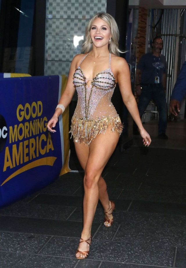 Witney Carson Surprises Everyone At Good Morning America In New York