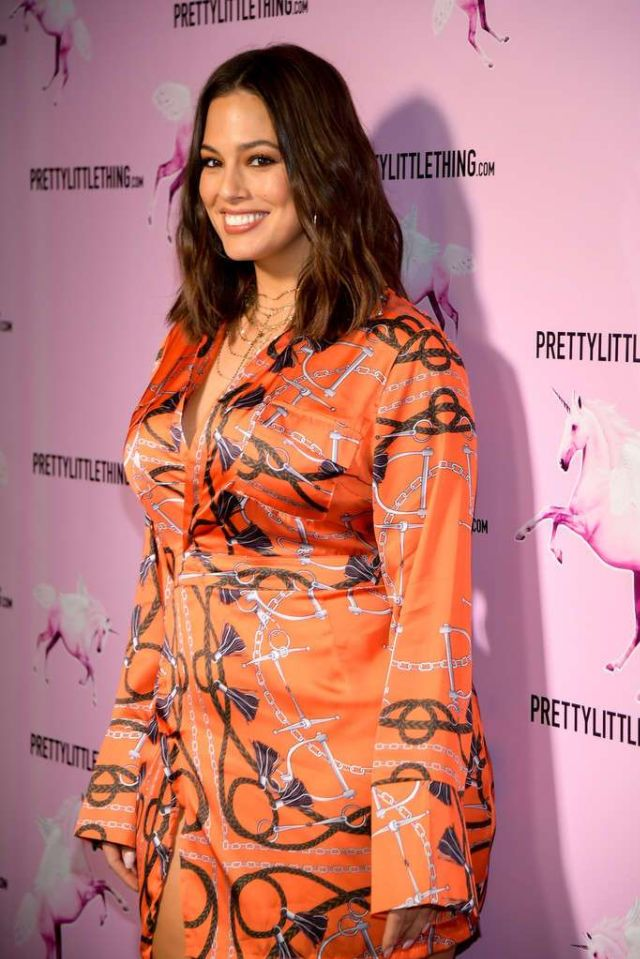 Ashley Graham Attends The PrettyLittleThing Office Opening Party