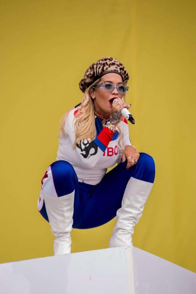 Rita Ora Performing Live At Lollapalooza Festival In Berlin