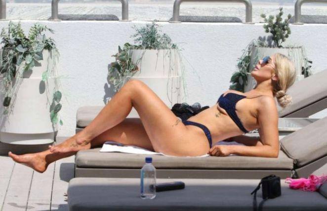 Chloe Ferry Vacationing In A Bikini At A Swimming Pool In Dubai