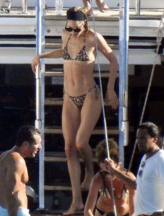 Doutzen Kroes Kayaking In A Bikini At A Beach In Ibiza