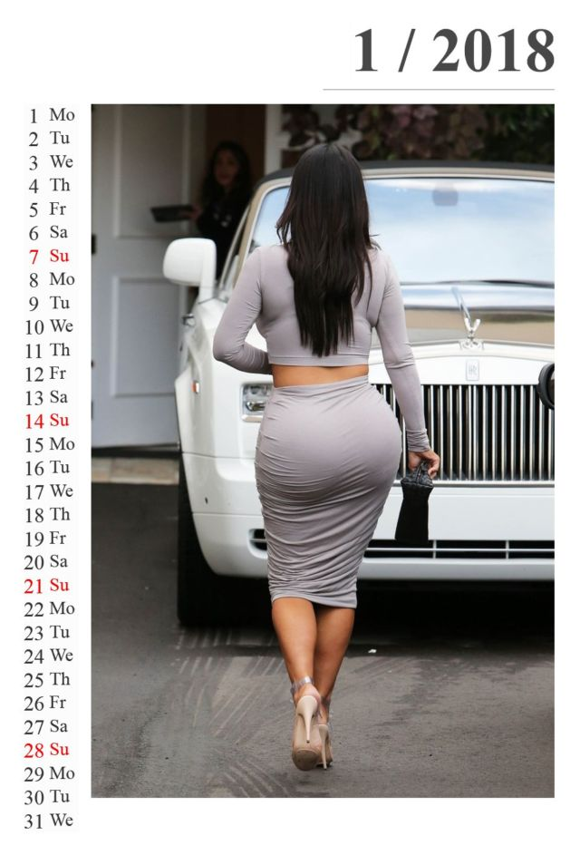 Click to Enlarge - Must Awaited Kim Kardashian Calendar Of 2018 Is Here