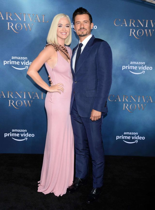 Katy Perry And Orlando Bloom Attend The Premiere Of 'Carnival Row' TV Show