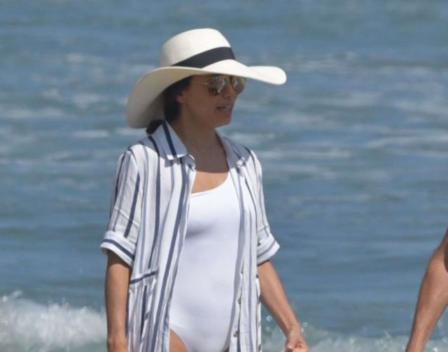 Eva Longoria On A Swimsuit Vacation At The Beach In Marbella