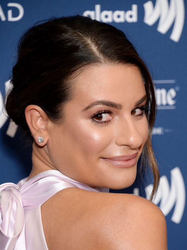 Lea Michele Glams Up 30th Annual GLAAD Media Awards